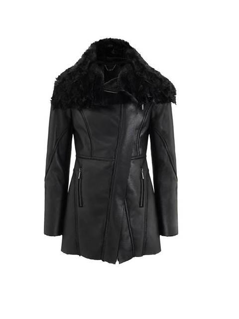 Black leather jacket lipsy