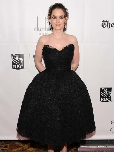 Winona Ryder in Dolce & Gabbana at IFP's 20th Anniversary Gotham Independent Film Awards in New York, 29 November 2010