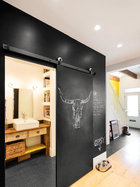 For a cooler, younger design, how about a chalkboard wall? -Design-