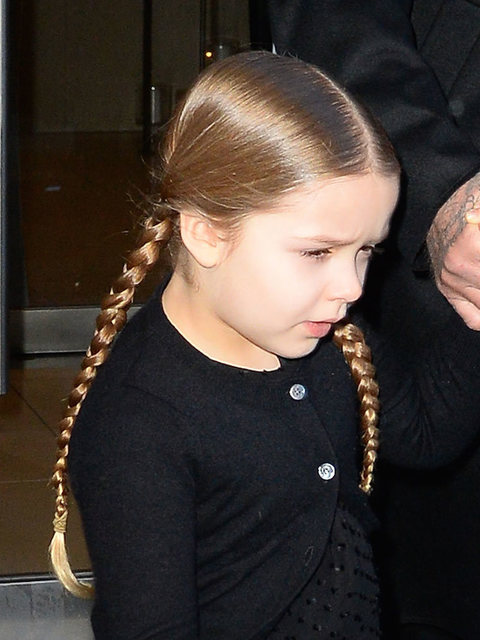 Harper Beckham out and about before the Victoria Beckham AW16 show in ... David Beckham