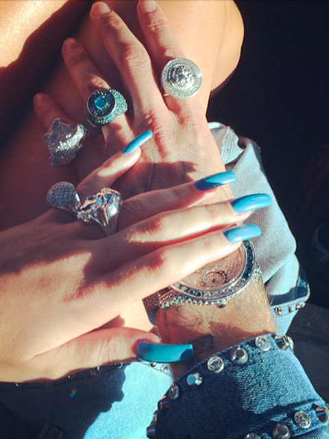 43 Celebrity Nail Art Designs That Are Just GOALS! - Blissed Hub