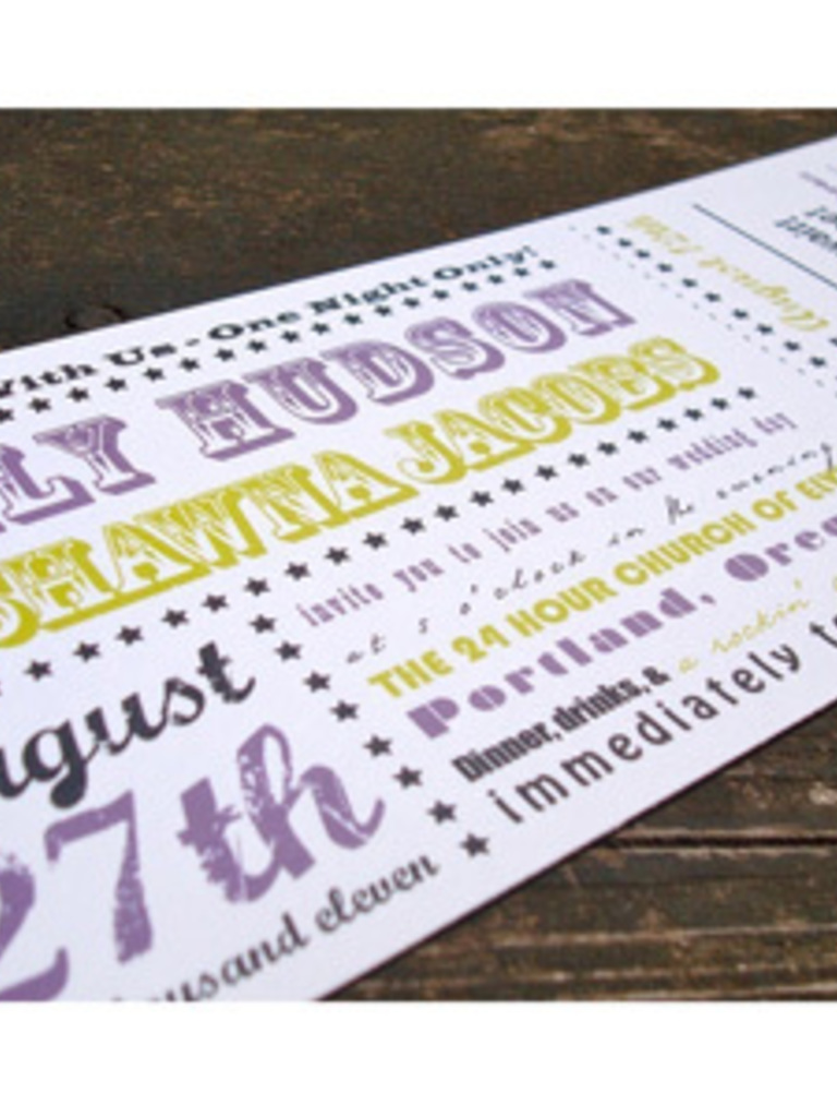 Free printable ticket style invitations