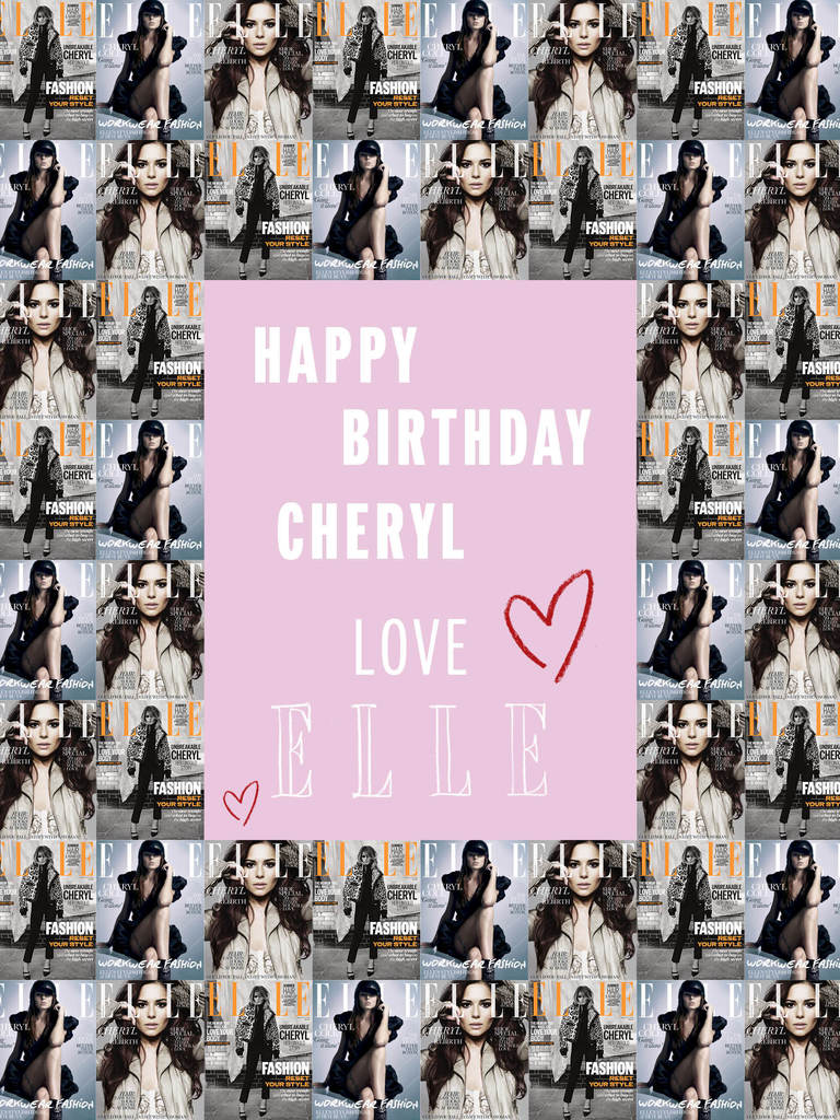 Happy birthday Cheryl Cole – Cheryl Cole Birthday Card