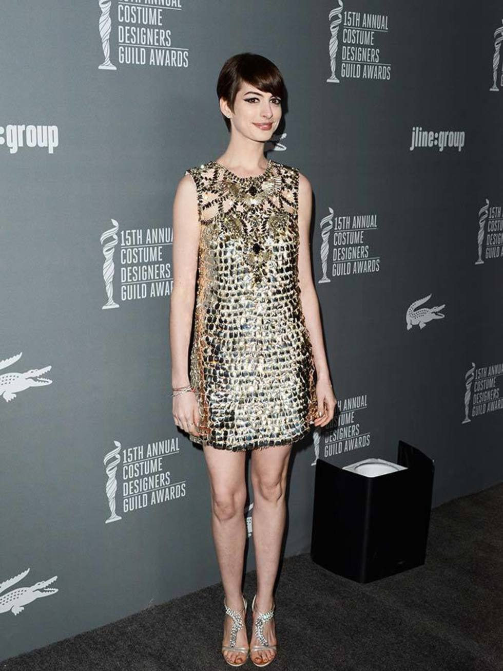 Anne Hathaway See Through Dress Fashion Dresses