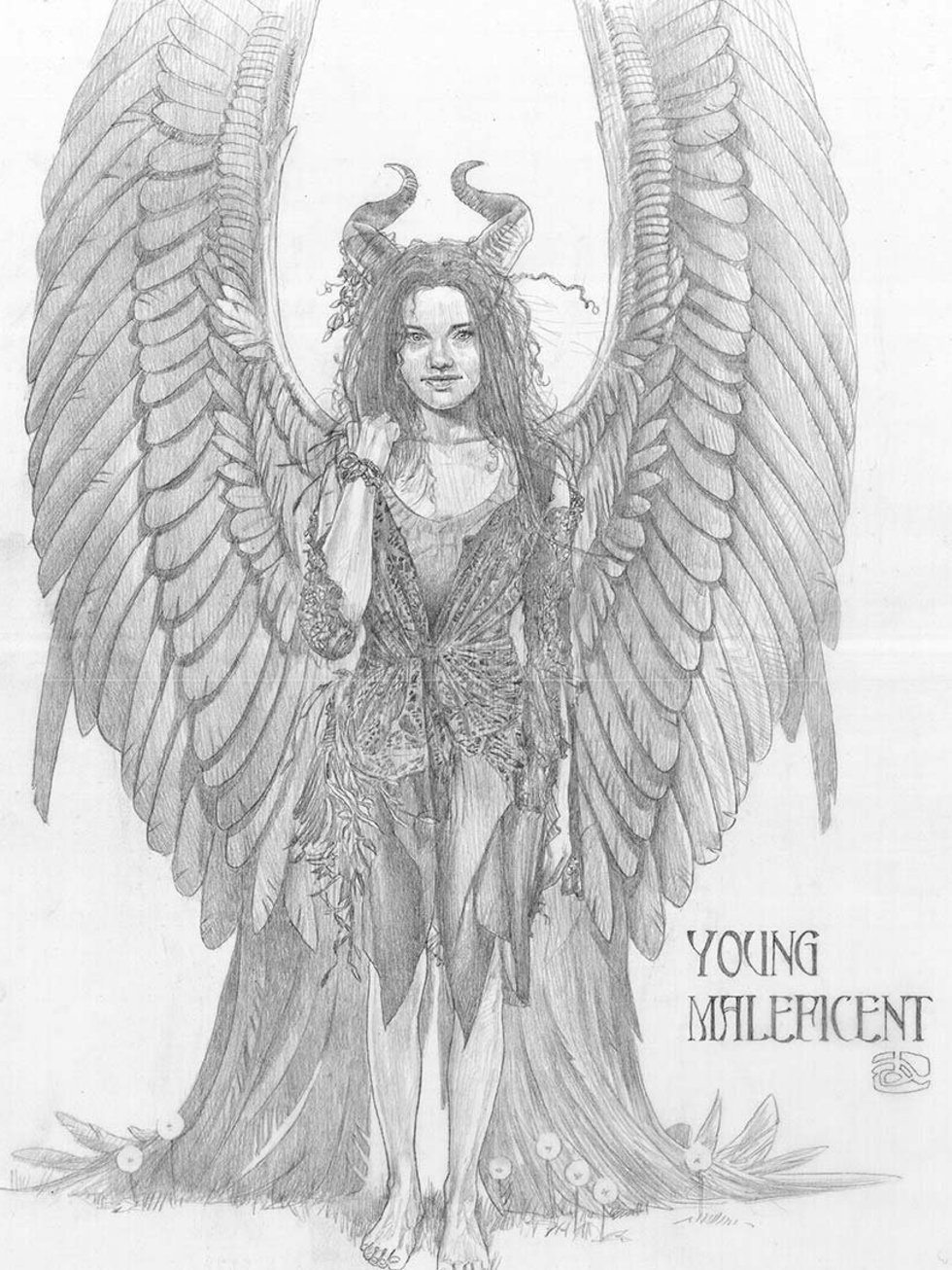 Maleficent coloring pages to print - Printable Maleficent Coloring Pages