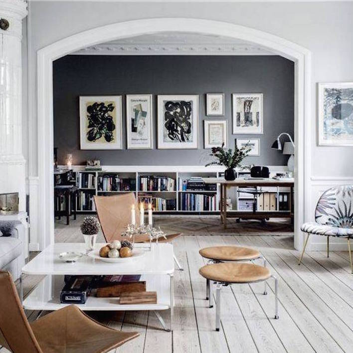 Create A Patchwork Feature Wall: 15 Black Feature Walls To Make You Rethink All Your Decor