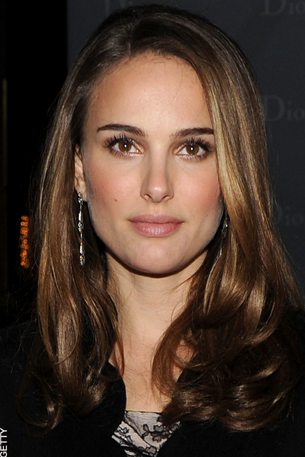Natalie Portman injects a pop of colour to her monochrome