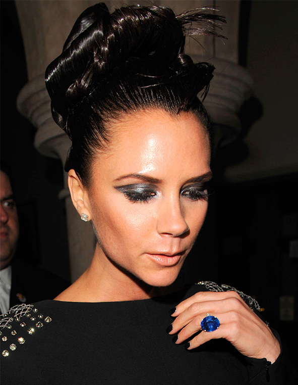 also circa 2007 this yellow hued baguette made the first of many appearances - Victoria Beckham Wedding Ring