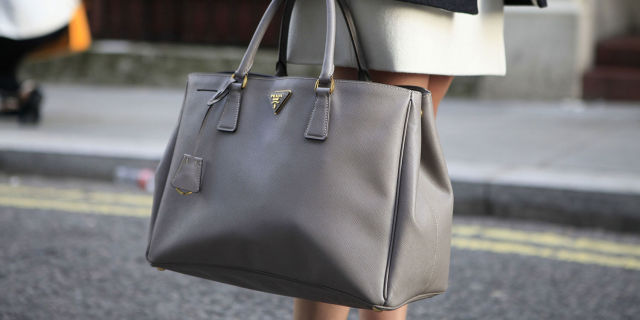 Gray Prada Bag