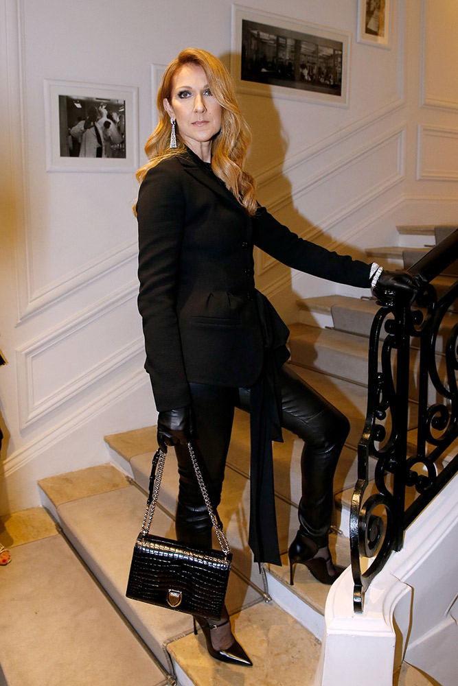 Celine Dion at Dior, Paris Fashion Week