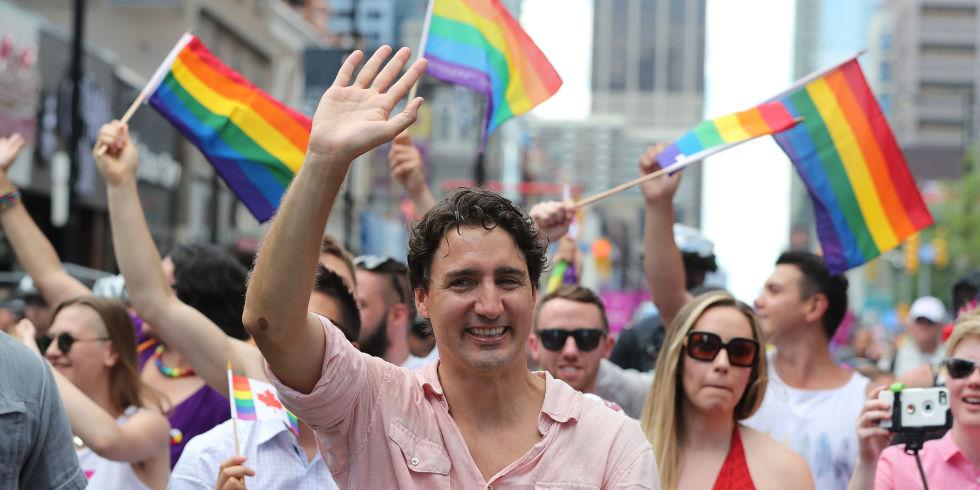 Resultado de imagem para Justin Trudeau GAY