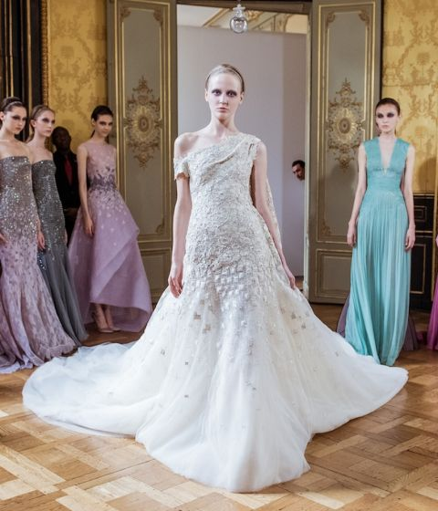 Wedding dress inspiration from haute couture fashion week aw16 for Giles deacon wedding dresses