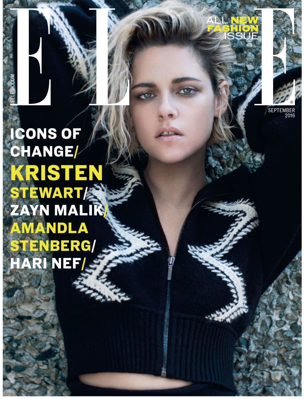 Fabuleux Icon Of Change! Kristen Stewart's ELLE UK September Cover ZH38