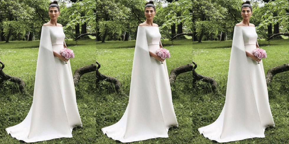 Giovanna battaglia had another amazing wedding dress by valentino junglespirit Image collections