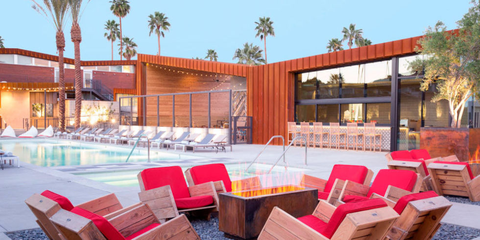 Pool Area At The Arrive Hotel Palm Springs