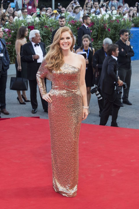 Arriving for the premiere of Tom Ford's movie 'Nocturnal Animals' during 73rd Venice Film Festival, wearing (of course) a Tom Ford gown and Bvlgari gems.