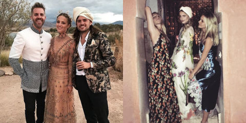 Dianna Agron Wore Dreamy Valentino And Gucci For Her Morocco Wedding