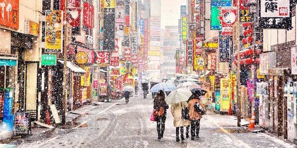 tokyo transforms into winter wonderland with first. Black Bedroom Furniture Sets. Home Design Ideas