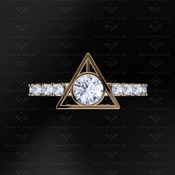 deathly hallows ring elle uk - Harry Potter Wedding Rings
