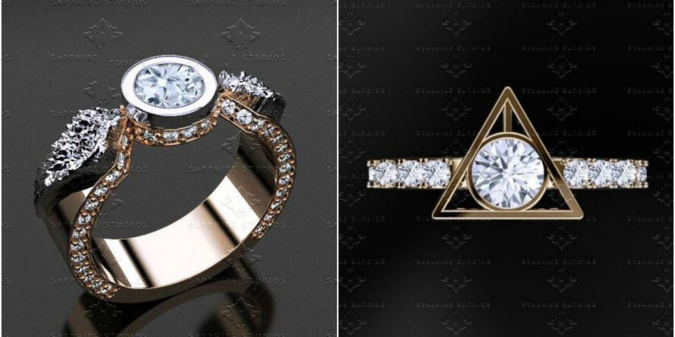 the harry potter engagement rings that will add magic to your wedding day - Harry Potter Wedding Rings
