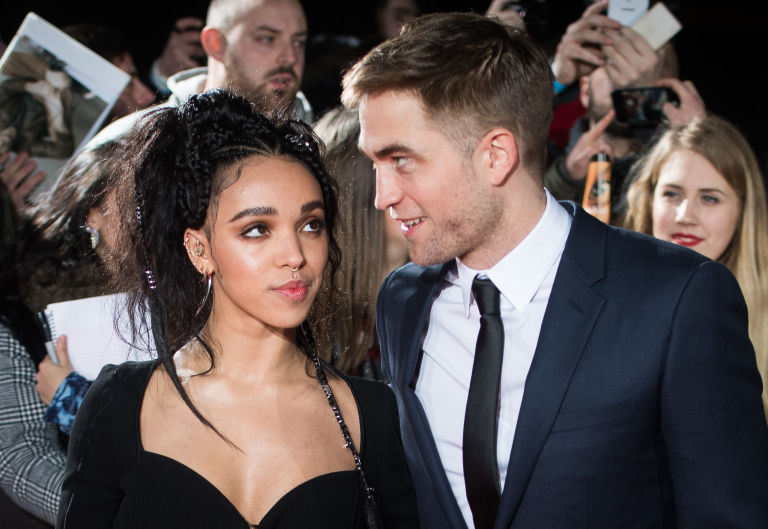 Robert Patterson and FKA Twigs at premiere