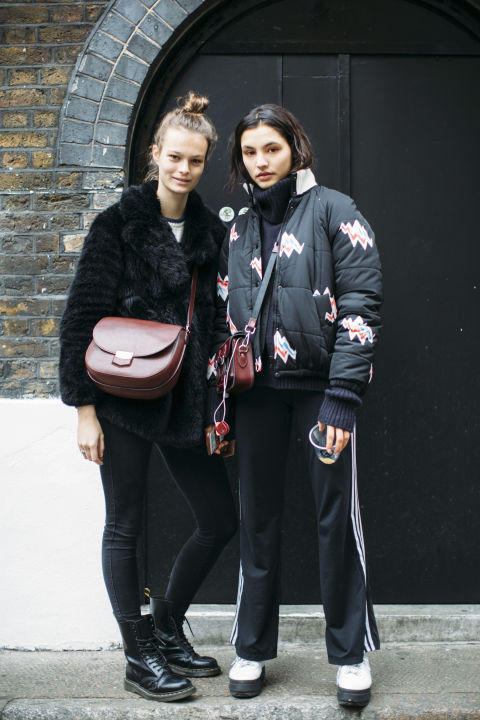 London Fashion Week Autumn Winter 2017 Models Off Duty