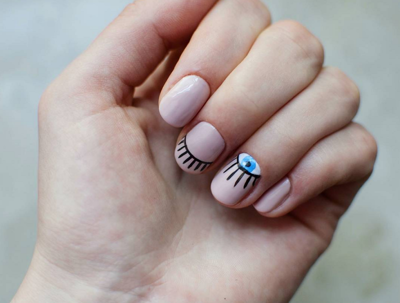 Evil Eye Nails, 23 February 2017 - 16 Stunning Minimalist Nail Art Ideas To Try
