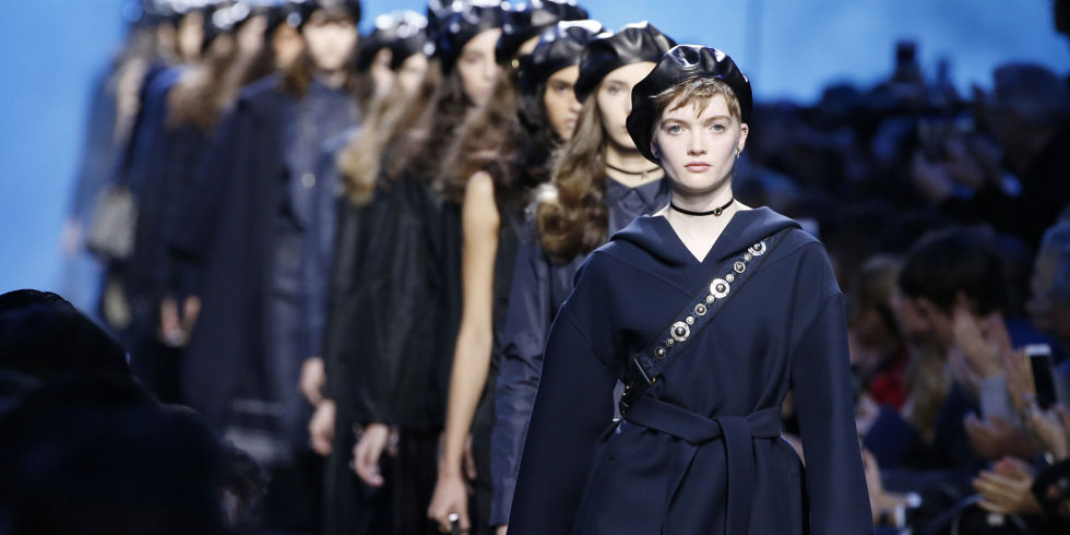 1d2461df Dior approached the trend with a daring leather beret, while Miu Miu rocked  the most outrageous colourful numbers known to man.
