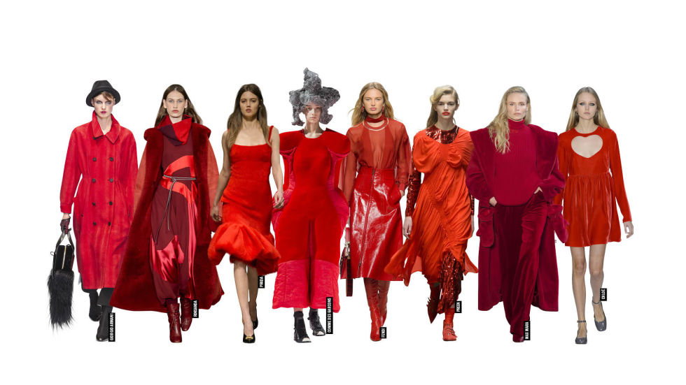 Image result for AW17 catwalk red