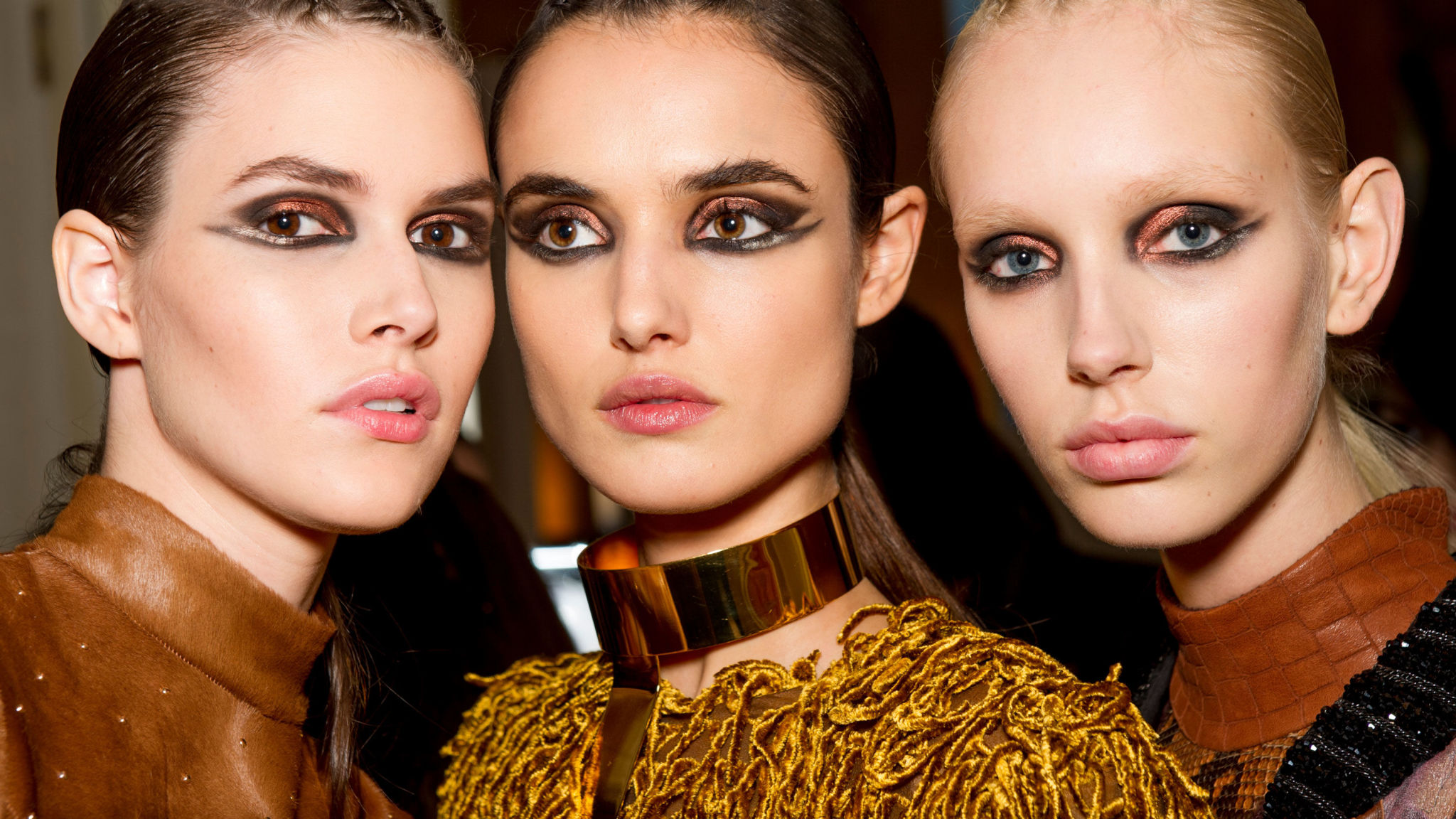 Autumn Winter 2017 Hair And Make Up Trends From Pink Eyeshadow To Proud Brows