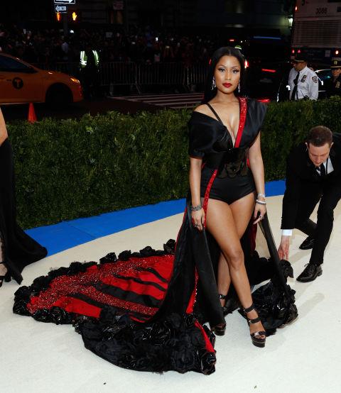 Nicki is wearing custom H&M