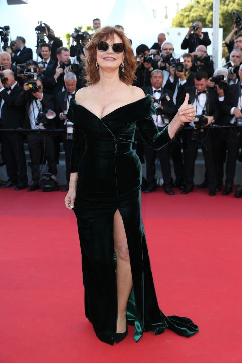 Susan Sarandon attends the 'Ismael's Ghosts' screening and Opening Gala during the 70th annual Cannes Film Festival at Palais des Festivals on May 17, 2017.