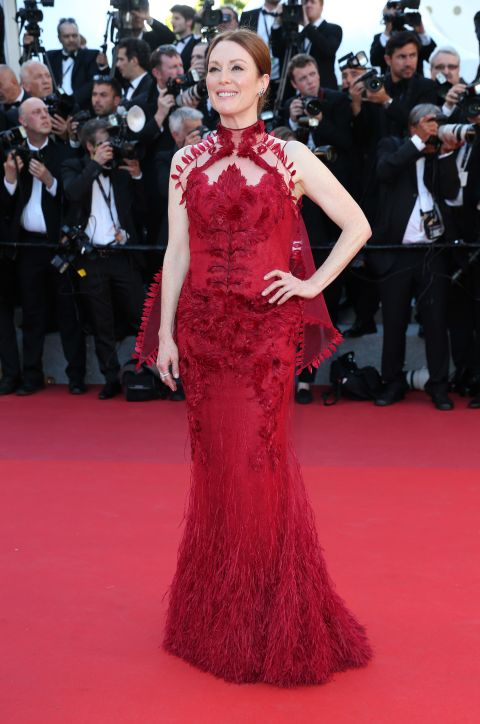 Julianne Mooreattends the 'Ismael's Ghosts' screening and Opening Gala during the 70th annual Cannes Film Festival at Palais des Festivals on May 17, 2017.