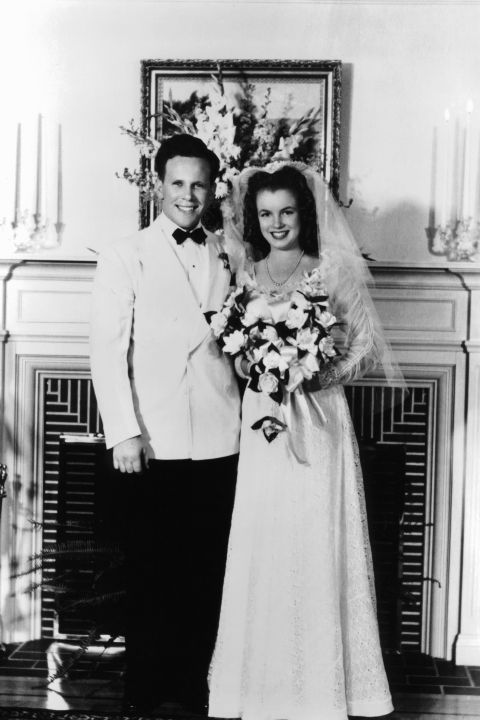 Monroe's first marriage, to high school sweetheart James Dougherty, when she was 16.