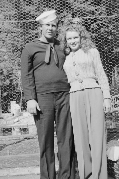 Monroe and Dougherty during their first year of marriage.