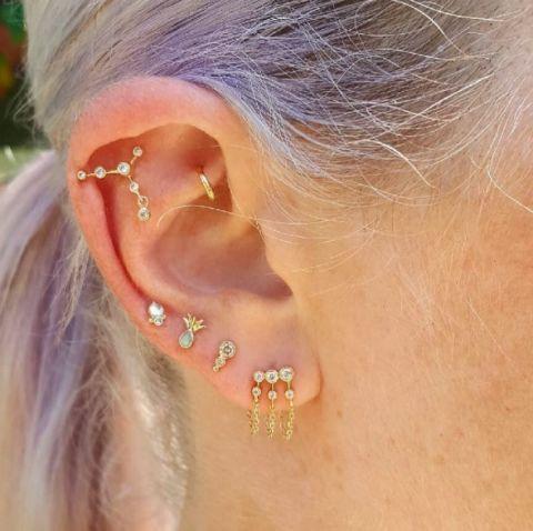 Ear Piercings - Multiple Ear Piercings Inspiration For ... Ear Piercings