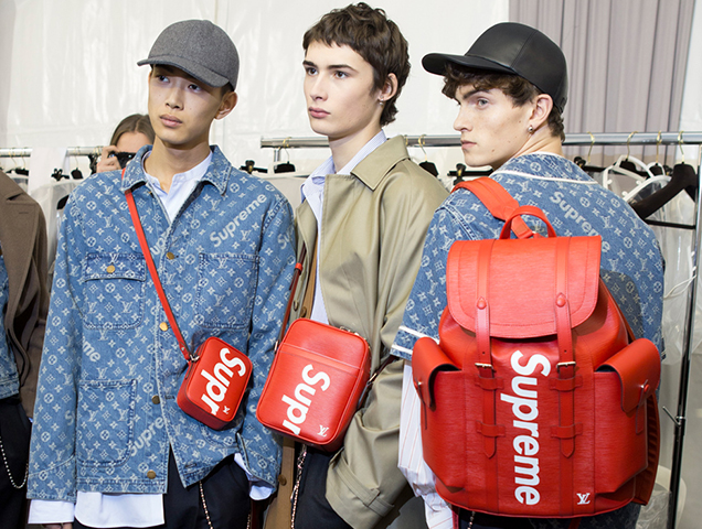 louis vuitton and supreme. the louis vuitton x supreme pop-ups shops might not actually be cancelled and