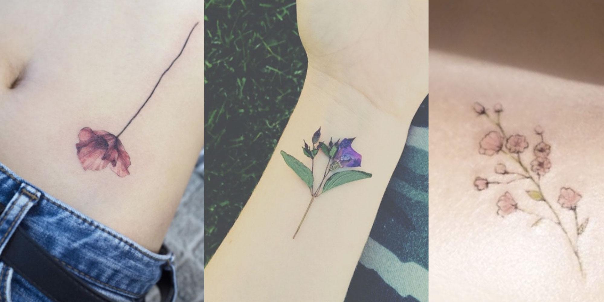 14 Delicate Flower Tattoos