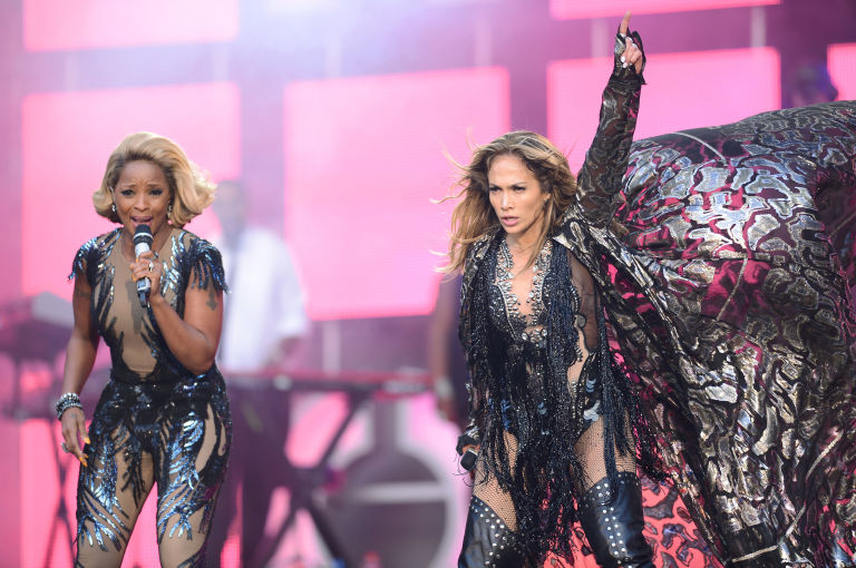 Jennifer Lopez mary j blige chime for change concert