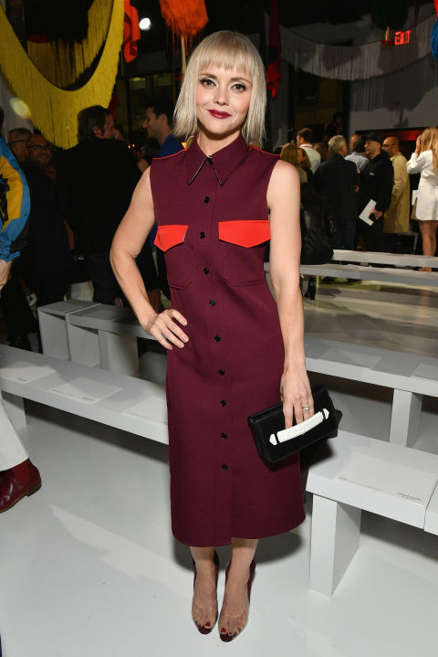 Christina Ricci attends the Calvin Klein Collection SS/18 show at NYFW