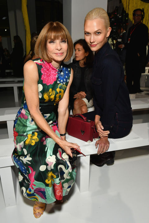 Anna Wintour and Karlie Kloss attend the Calvin Klein Collection SS/18 show at NYFW