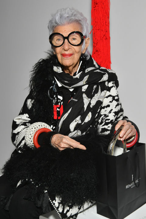 Iris Apfel attends the Calvin Klein Collection SS/18 show at NYFW