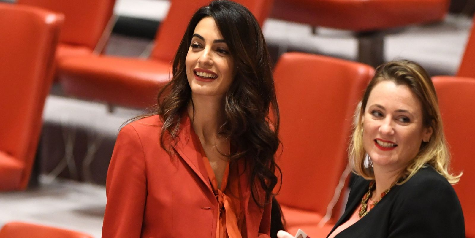 Amal Clooney Returns to the U.N. for the First Time Since Welcoming Twins
