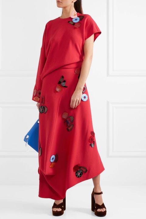 Cassia asymmetric embellished dress £2,995