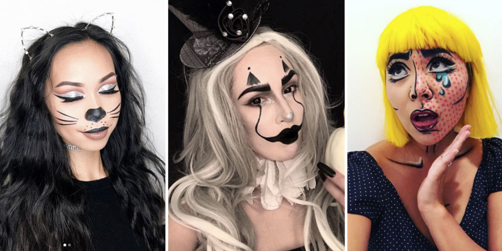 Easy Halloween Beauty Looks You Can Do With Products In Your Make ...
