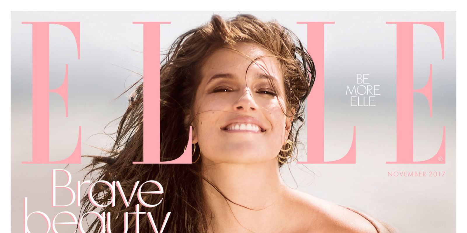 Ashley Graham Is All Kinds Of Cindy Crawford Vibes On The Cover Of ELLE This Month