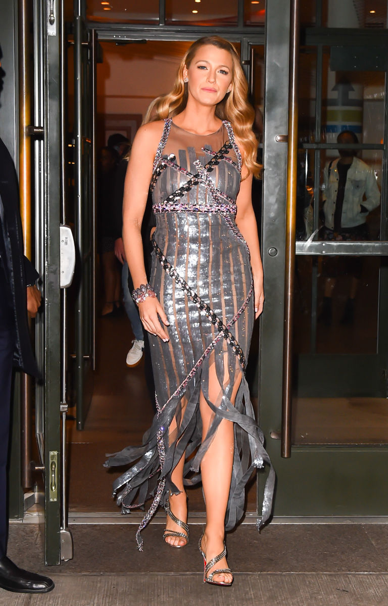 Blake lively silver chanel dress images