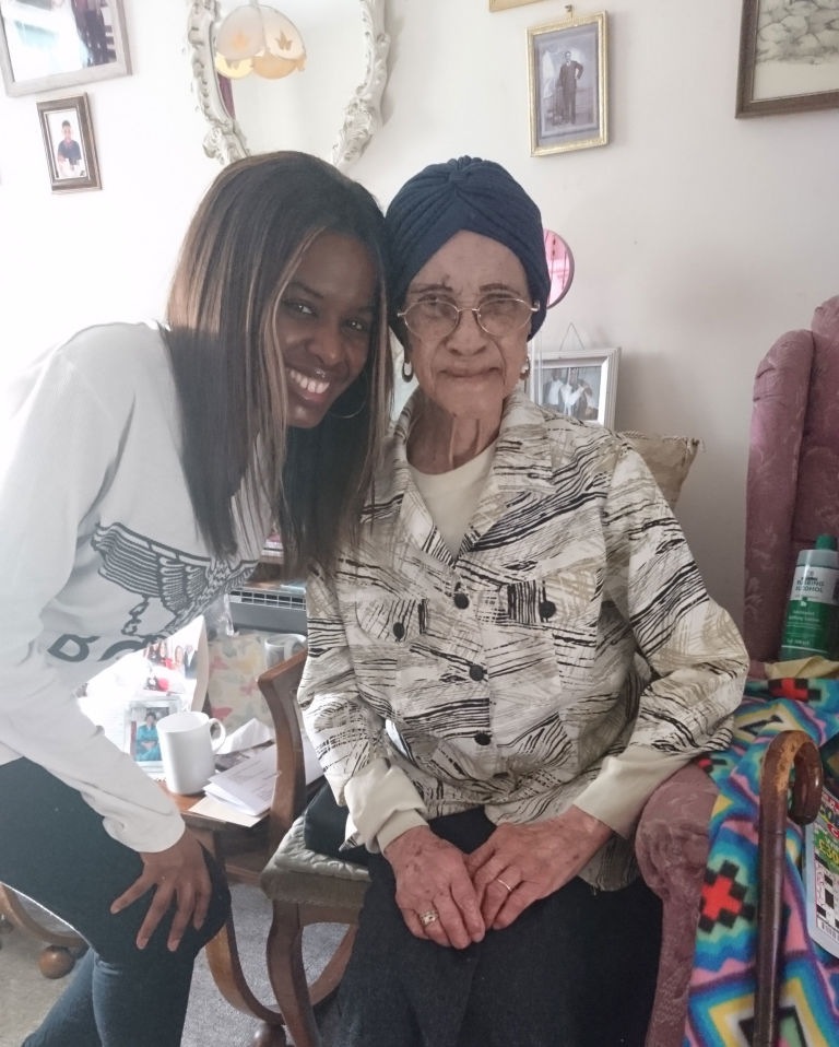 June and her 109-year-old friend Irene Sinclair