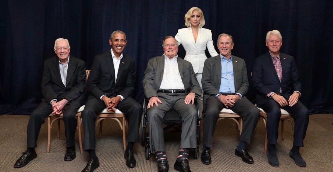 Lady Gaga Just Appeared On Stage with All Five Living Former Presidents