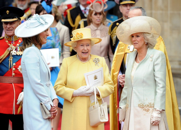 Queen Carole Middleton And Duchess Of Cornwall At Royal Wedding